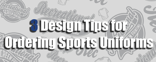 3 Tips for Ordering Custom Sports Apparel